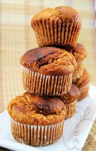 Muffins integrales de mijo y miel (3)