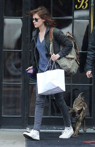 Kristen Stewart & Bear in NYC 2