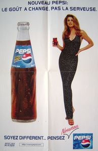 Pepsi Cola, Cindy Crawford, pub 1985