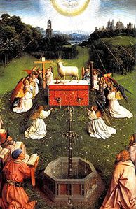 220px-Ghent_Altarpiece_D_-_Adoration_of_the_Lamb_2wide.jpg