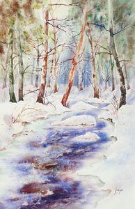 R-Le ruisseau glacé 35 x 55 cm
