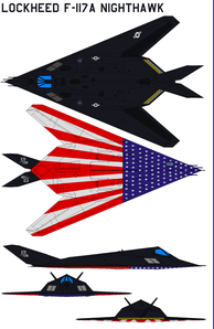 F 117A Nighthawk Shows Colors by bagera3005