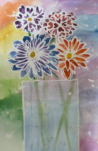 bouquet aquarelle Vinciane