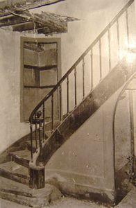 Doutre, Logis Ozanam, escalier interieur,