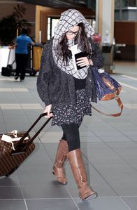 Nikki Reed Catching Flight Vancouver Airport