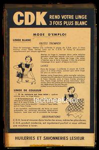 Lessive vintage Lessieur cdk Coudekerque 1952