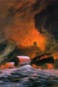 La fuite des Elendili. Nasmith