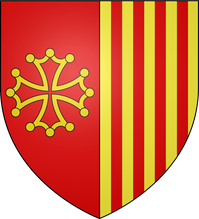Blason Languedoc Roussillon parti