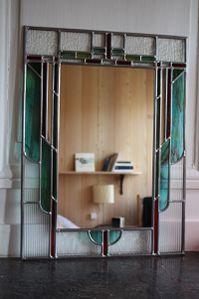 miroir art déco vert 2