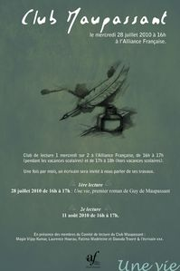 Poster Club Maupassant plumes