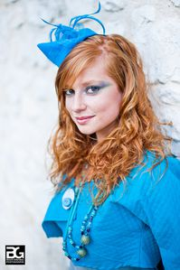 Cérémonie Bibi sur serre-tête turquoise photo 2 Benoit G