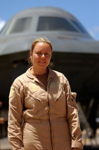 First female B-2 pilot to fly a combat mission1