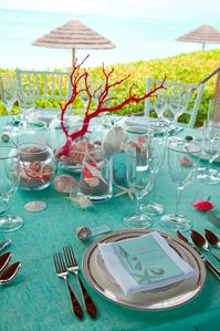 décoration de table mariage a la mer