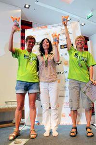 100 Meilen Berlin 2013 (2^ ed.). Vincono Peter Flock e Annette Bahlcke. Dal 2° al 5° posto maschile sono tutti Italiani