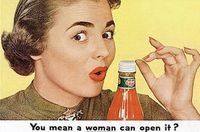 A woman can open it