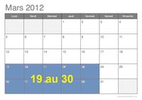 Date Mars 19