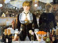 Manet bar folies bergere