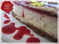 Cheese-cake, coulis de framboise6