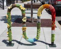 knitted bike rack