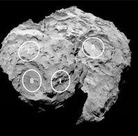 Rosetta - Philae Landing Sites - Comète 67 P - Candidats A
