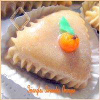 Triangles amandes oranges photo 3