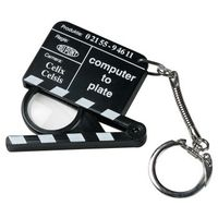 porte cle loupe clap cinema communication