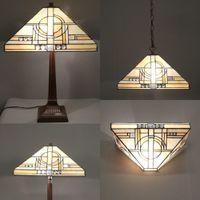 Lampes tiffany avec appliques lustre et lampadaires