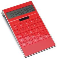 calculatrice rouge publicitaire personnalisable 13