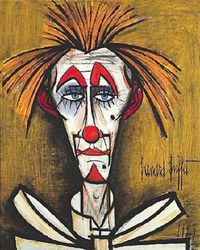 BERNARD BUFFET portrait clown