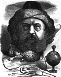 Caricature de Th&#xE9;ophile Gautier