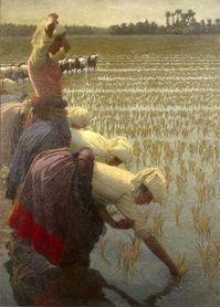 Giovanni Segantini Dans les champs de riz, 1898-1901