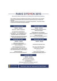 PARIS CITOYEN 2013 - flyer
