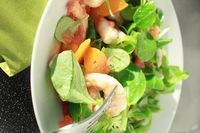 salade crevettes abricot