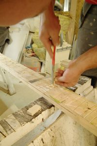fabrication flipo rebouchage marche