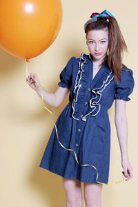 KLING DENIM DRESS