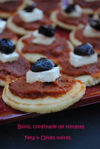 blinis & confinade tomates