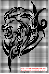 grille lion tribal