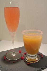 Champagne/fraise et cocktail amoureux