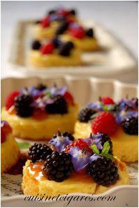 Génoise aux Framboises et Mûres Crème Pâtissière 6