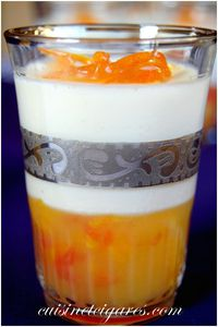 Panna Cotta sur Gele d'Agrumes Fleurs 6