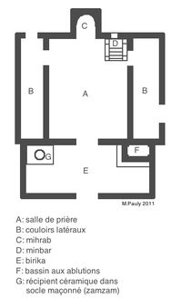 Plan type mosquée ancienne