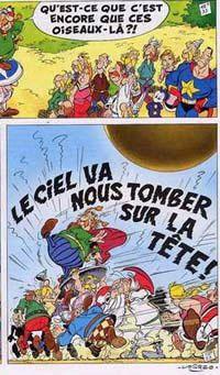 les Gaulois d'Astérix et Obélix : 'le ciel va nous tomber sur la tête !'