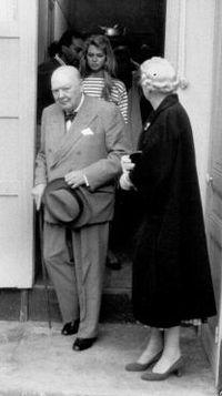 Avec Winston Churchill