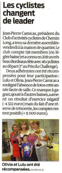 Article Sud-Ouest 24 Oct 2011 bis