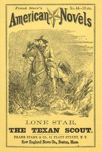 dime novel - Lone Star - the Texan scout