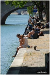 bronzage bords de seine