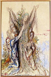 fille jephte - apr1850 - Gustave Moreau -1826 -1898 - aquar