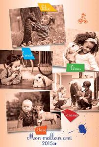 calendrier 2015 personnalisable enfant animal