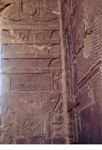 Philae pilier djed ds temple Isis