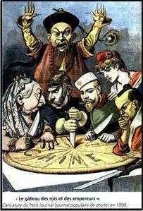 b 1 2 1898-Le-partage-de-la-Chine-caricature